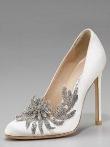 scarpe sposa con gioielli e brillanti