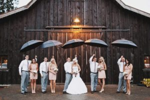 foto matrimonio con pioggia