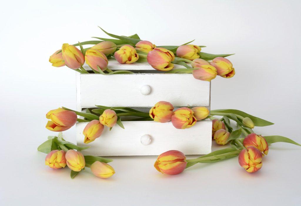 allestimento a tema tulipano per ricevimento