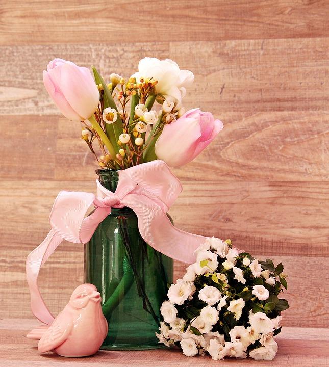 allestimento tulipani