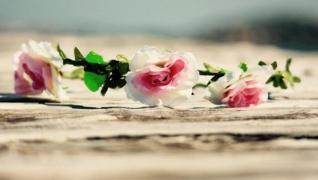 coroncina fiori per sposa celtica